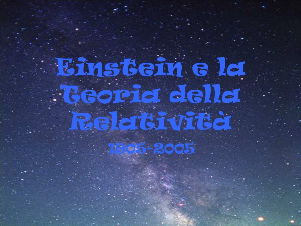 einstein e la teoria della relativit l.