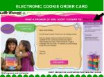electronic cookie order card