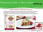 marketing thank u berry munch