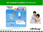 my cookie planner dashboard