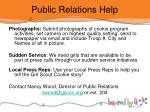 public relations help