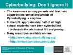 cyberbullying don t ignore it