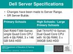 dell server specifications