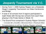 jeopardy tournament via v c