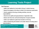 learning tools project34