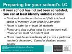 preparing for your school s i c