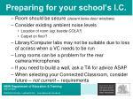 preparing for your school s i c29