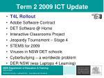 term 2 2009 ict update