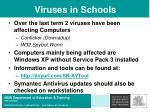 viruses in schools
