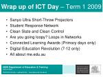 wrap up of ict day term 1 2009