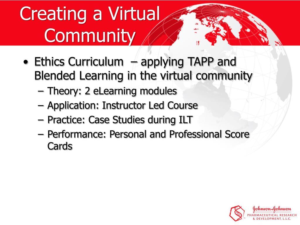 Creating a Virtual Community
