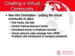 creating a virtual community12