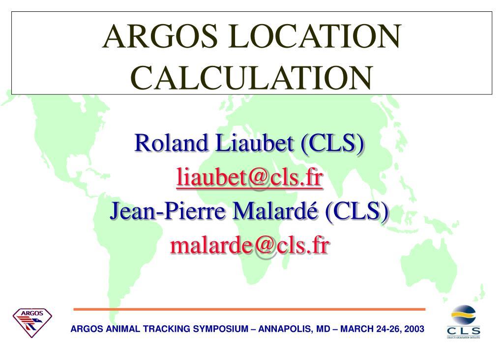 argos location calculation l.