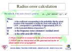 radius error calculation