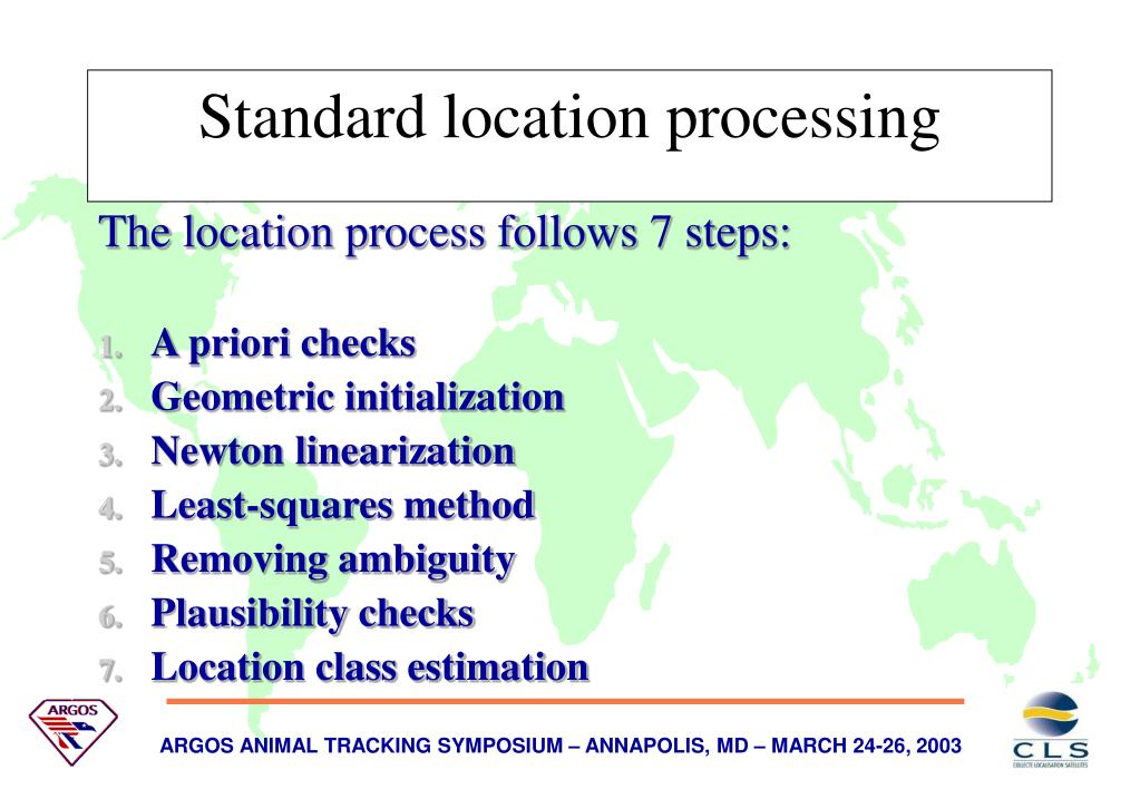 The location process follows 7 steps: