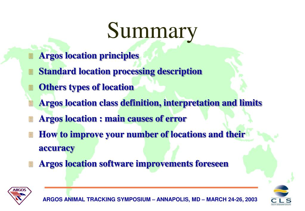 Argos location principles