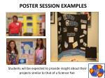 poster session examples