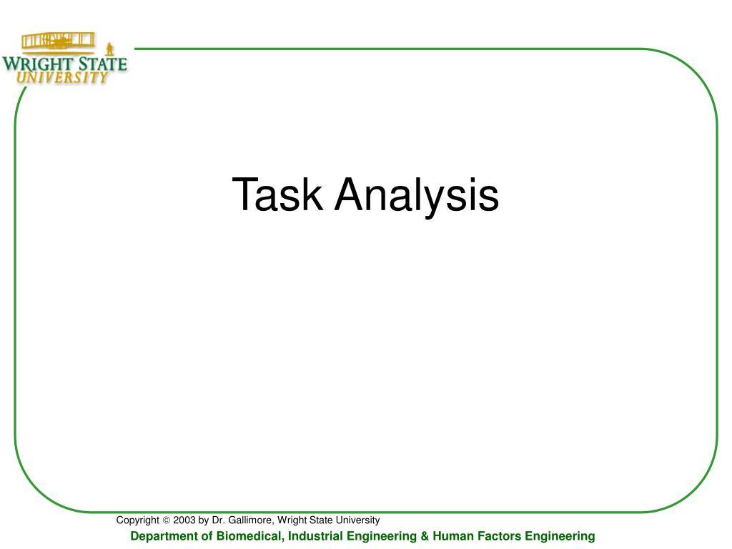 task analysis l.