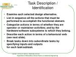 task description identification