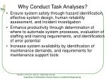 why conduct task analyses