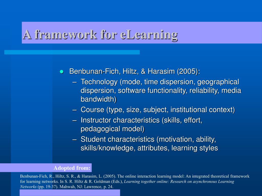 A framework for eLearning