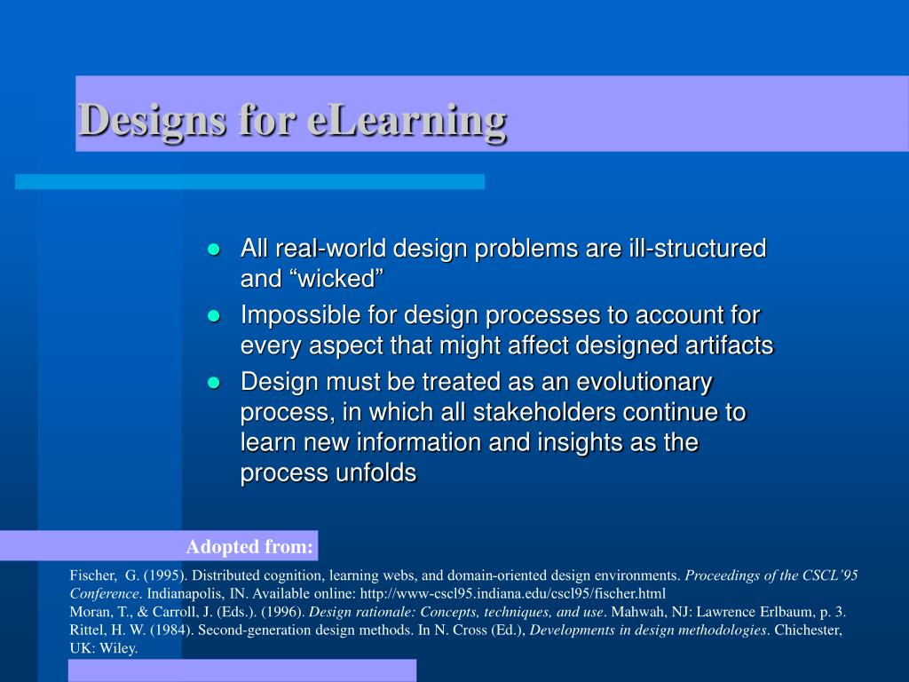 Designs for eLearning