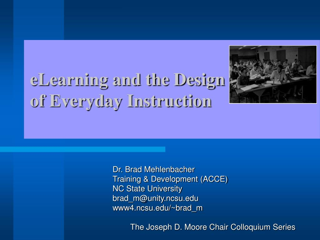elearning and the design of everyday instruction l.