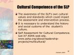 cultural competence of the slp