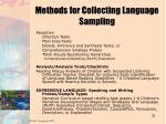 methods for collecting language sampling