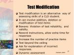test modification