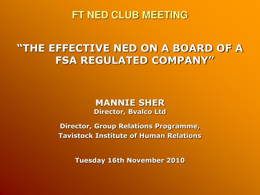 ft ned club meeting l.