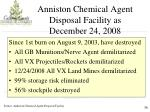 anniston chemical agent disposal facility as december 24 2008