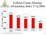 calhoun county housing affordability index 3 rd q 2008
