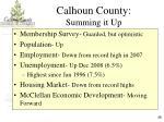 calhoun county summing it up