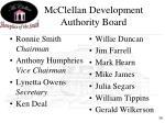 mcclellan development authority board
