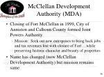 mcclellan development authority mda