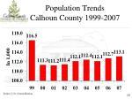 population trends calhoun county 1999 2007