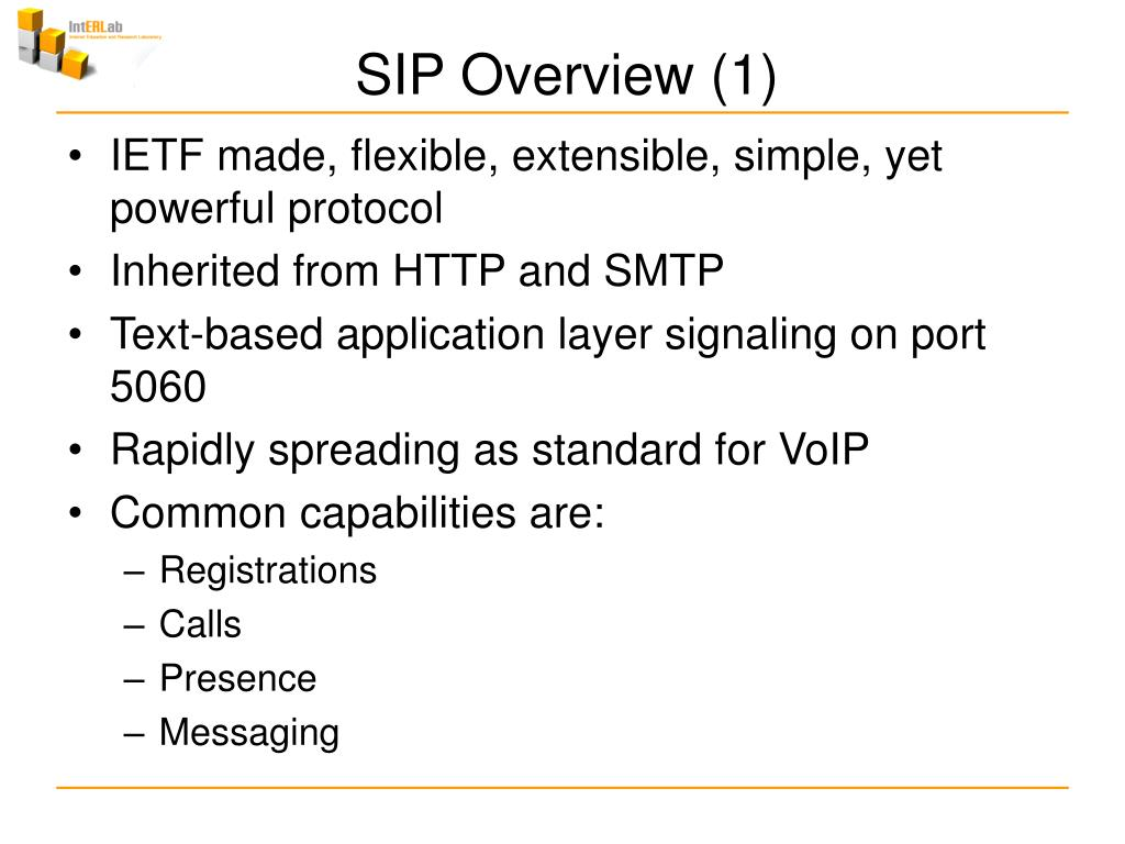 SIP Overview (1)