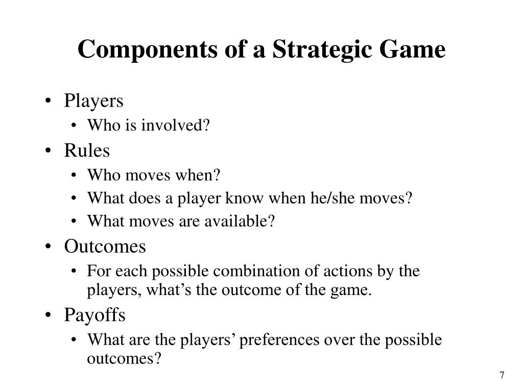 Components of a Strategic Game