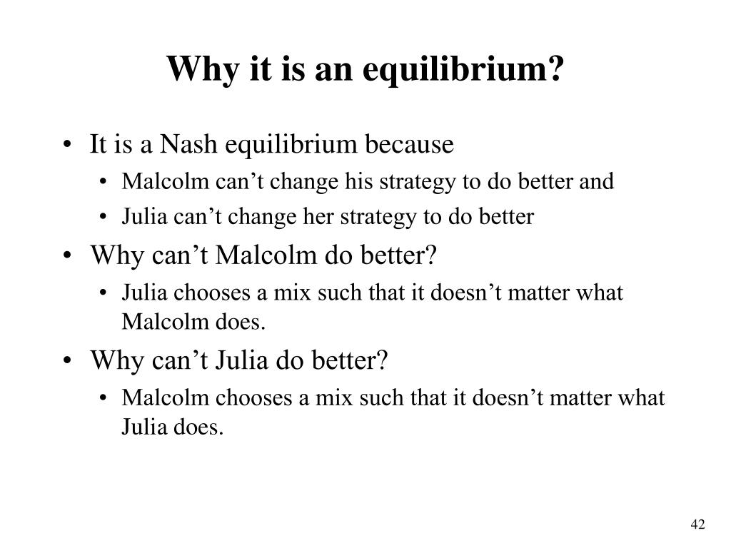 Why it is an equilibrium?