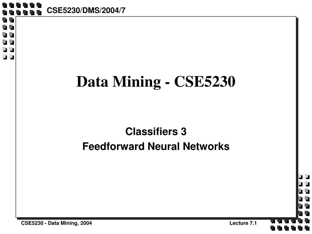 data mining cse5230 l.