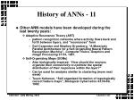 history of anns 11