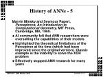 history of anns 5