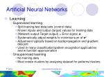 artificial neural networks9