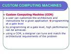 custom computing machines28