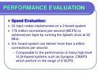 performance evaluation49
