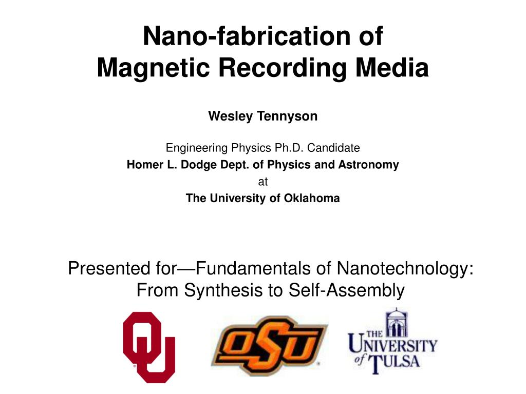 nano fabrication of magnetic recording media l.