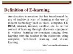 definition of e learning