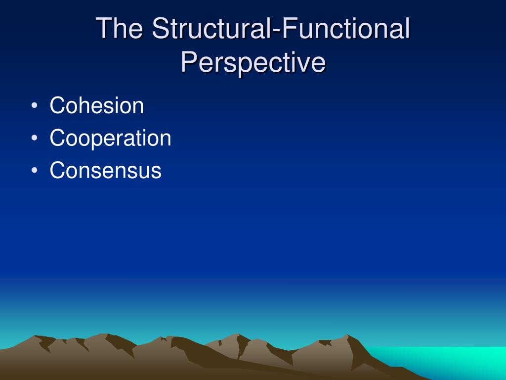The Structural-Functional Perspective