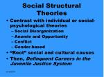 social structural theories